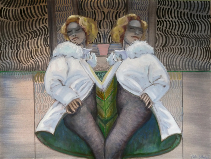 Double Girl, oil on canvas, 30x40, $1200.00